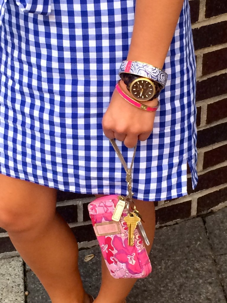 Navy & Pink Gingham